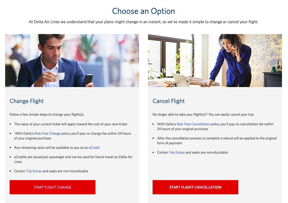 How to cancel Delta Airlines Reservation