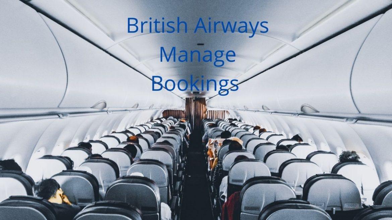 British Airways Manage Booking Seats, Flights & Reservations