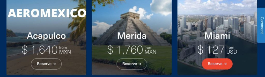 Aeromexico Airlines Reservations