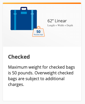 Sun County Airlines Checked bags