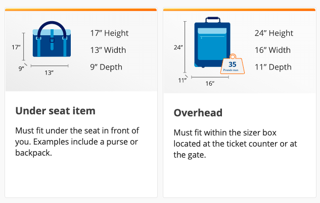 sun country airlines carryon bags